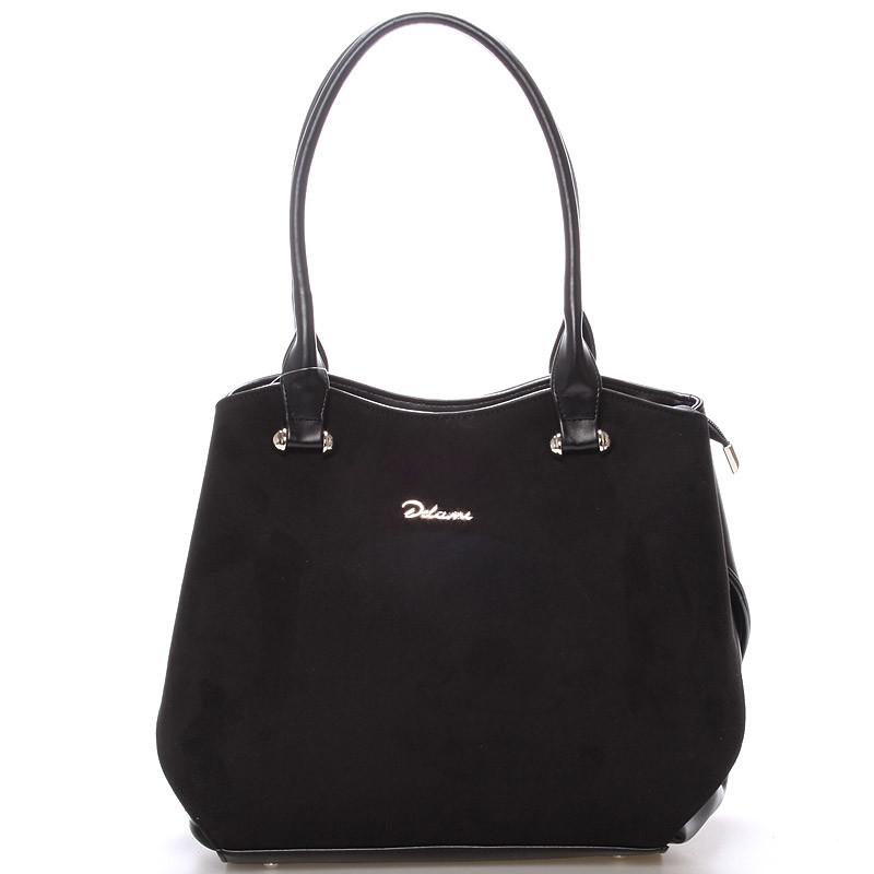 7c821e3016 Elegantní semišová kabelka přes rameno černá - Delami Brigitte ...