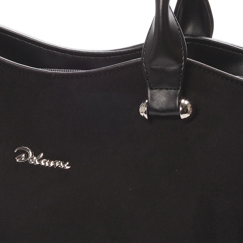 9c817f6a65 ... Elegantní semišová kabelka přes rameno černá - Delami Brigitte ...