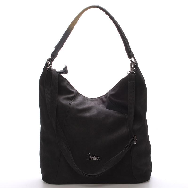 Velká dámská kabelka černá - Carine Macy - Kabea.cz 0384251c02e