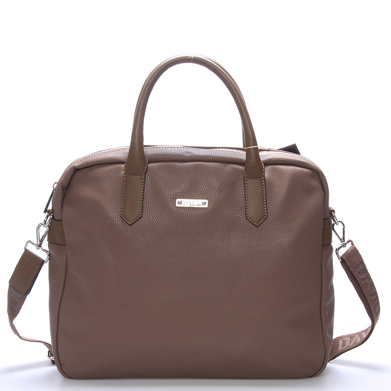 b1be655cf7 Taupe kabelka taška David Jones Silva na notebook - Kabea.cz