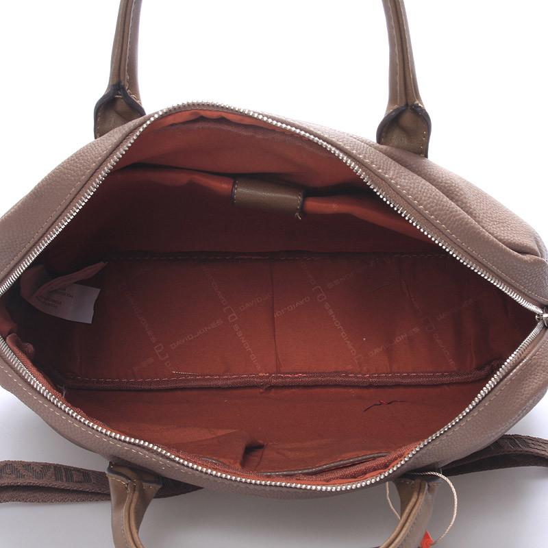 ad56f61d61 Taupe kabelka taška David Jones Silva na notebook - Kabea.cz