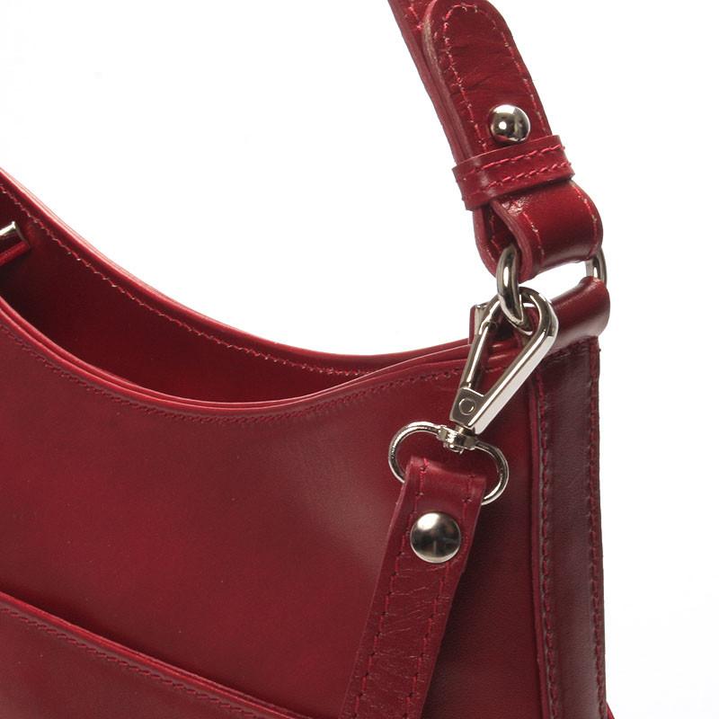 Červená kožená kabelka přes rameno ItalY Lydia - Kabea.cz 41d93ca1f62