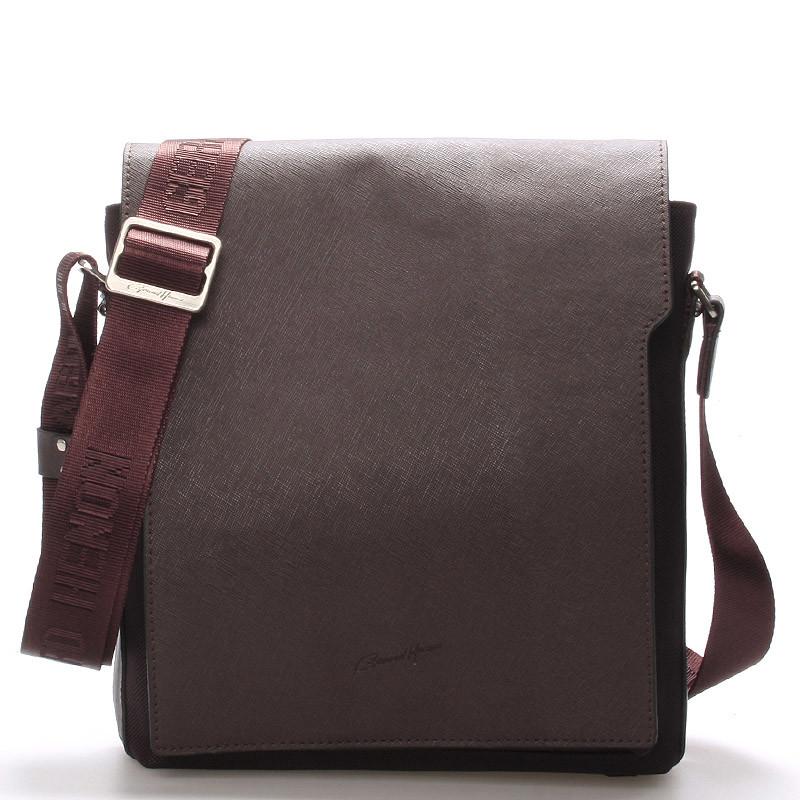 Pánská kožená taška přes rameno hnědá - Gerard Henon Curtiss - Kabea.cz 278446ebabd