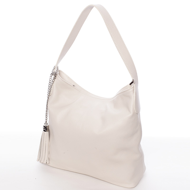 Módní kožená kabelka přes rameno béžová - ItalY Georgine - Kabea.cz a1bae88ab0e