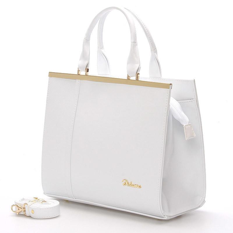 c2881256433 Elegantní dámská kabelka do ruky bílá - Delami Delit - Kabea.cz