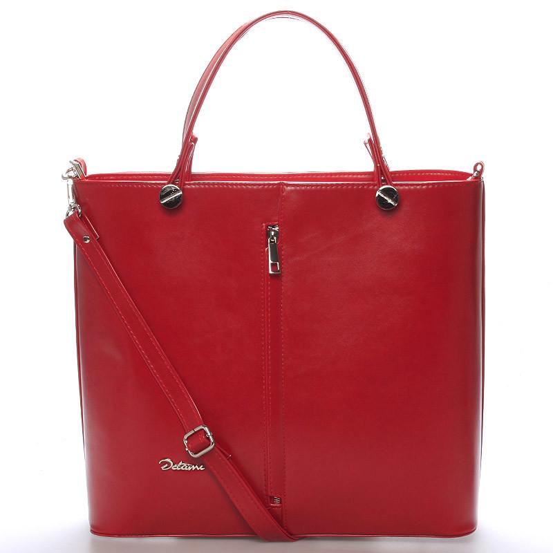 289627c479 Luxusní červená dámská kabelka - Delami Catherine - Kabea.cz