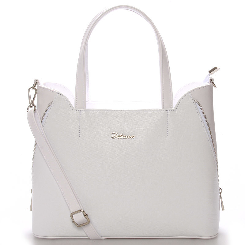 e9cacd03f8e Elegantní dámská kabelka do ruky bílá saffiano - Delami Diahann ...