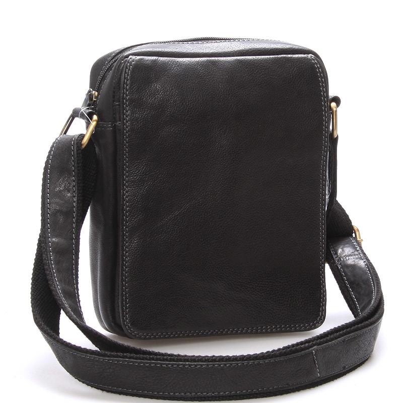 6408b0613b Pánská kožená taška na doklady přes rameno černá - SendiDesign Didier ...