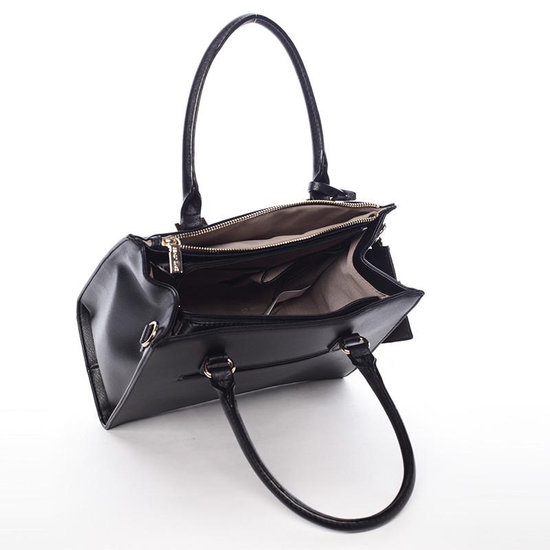 Elegantní dámská kabelka do ruky černá - David Jones Halette - Kabea.cz 1c12555f84