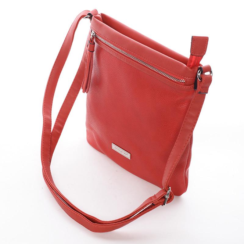 5bef5faeed17 Moderní dámská crossbody kabelka červená - David Jones Azurine ...