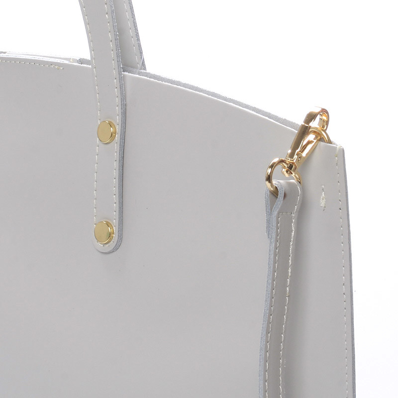 2da494681a Světle šedá kožená kabelka do ruky - ItalY Sydney - Kabea.cz