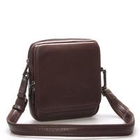 Luxusní pánská kožená kabelka přes rameno černá - Hexagona Filippo ... 5f287853115
