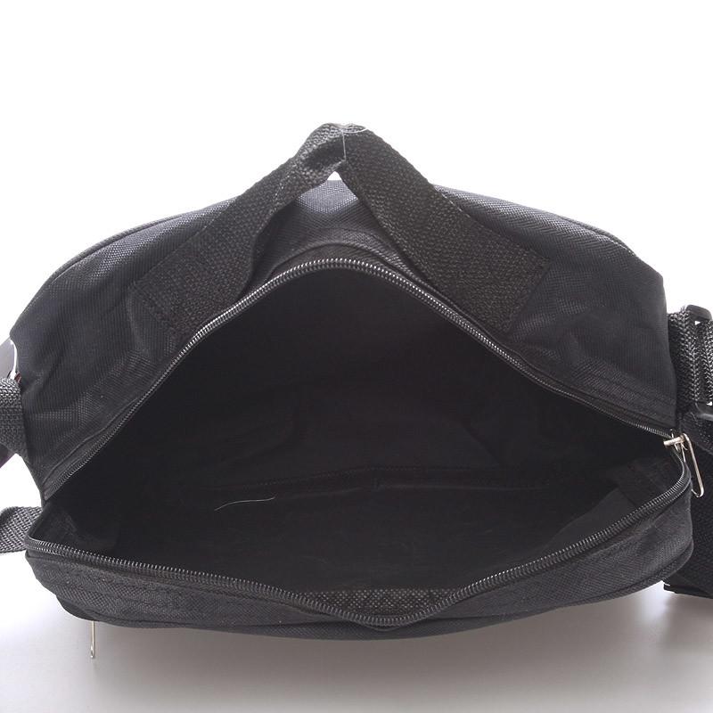 pánská látková taška přes rameno černá sanchez vimax