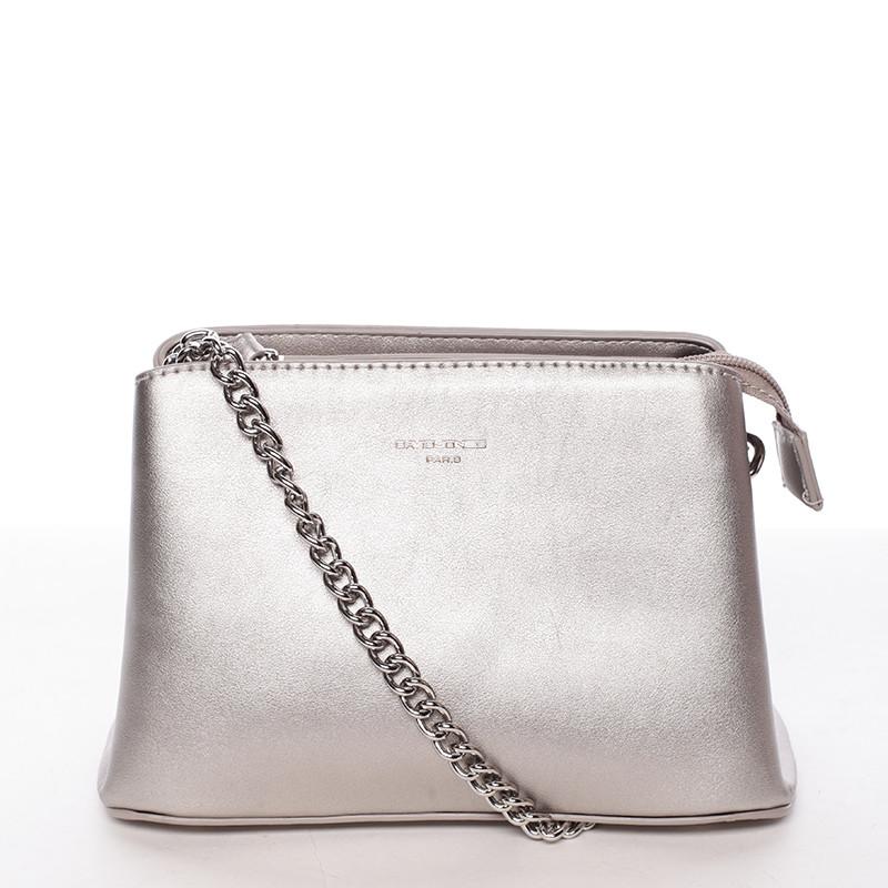 Dámská crossbody kabelka tmavě stříbrná - David Jones Deppari - Kabea.cz 432db2385f1