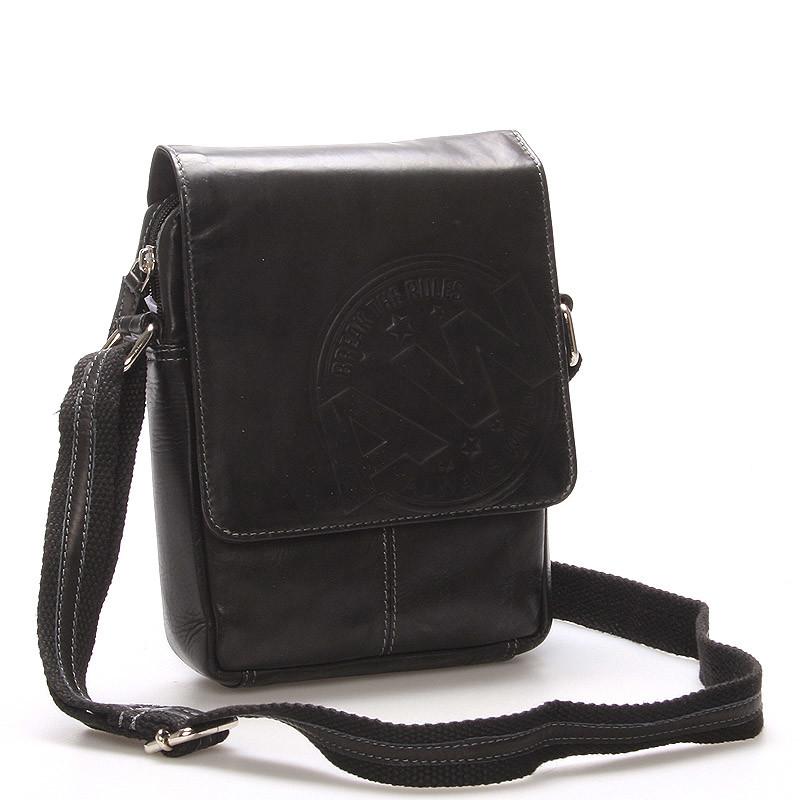 05a2bdcedd Pánská kožená taška na doklady černá - WILD Connor - Kabea.cz