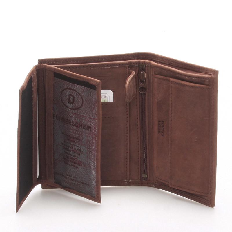5c3a5d56f1c Pánská kožená peněženka hnědá - Delami Matt - Kabea.cz