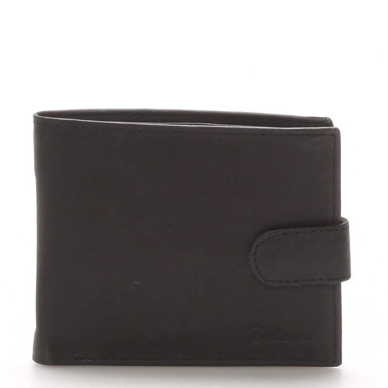 1dbaa738daa Pánská kožená černá peněženka - Delami 9371 - Kabea.cz