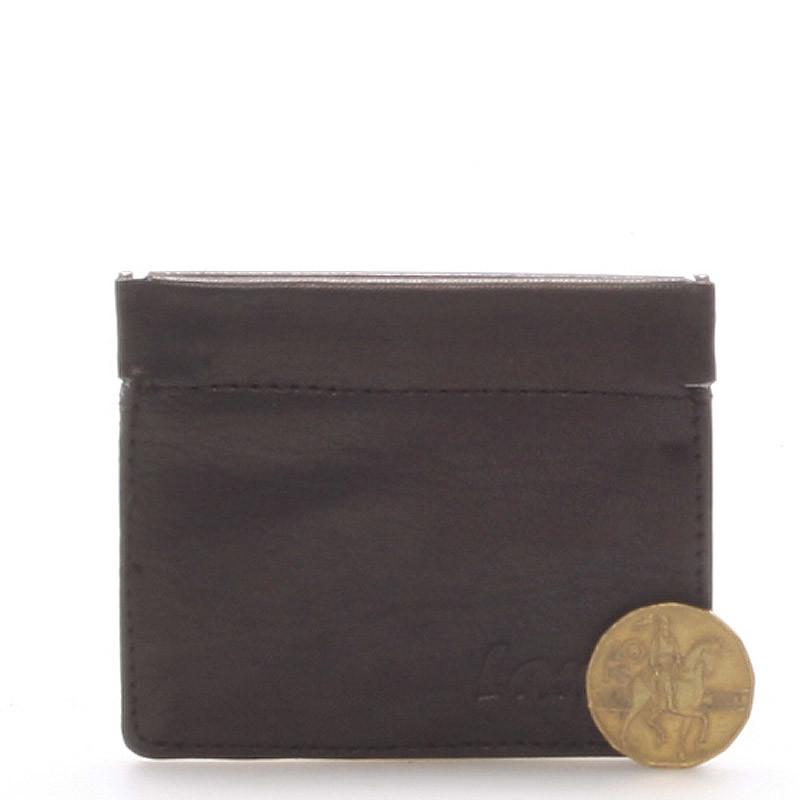 Kožená peněženka na mince černá - Delami MIMI - Kabea.cz 1f47a7b187