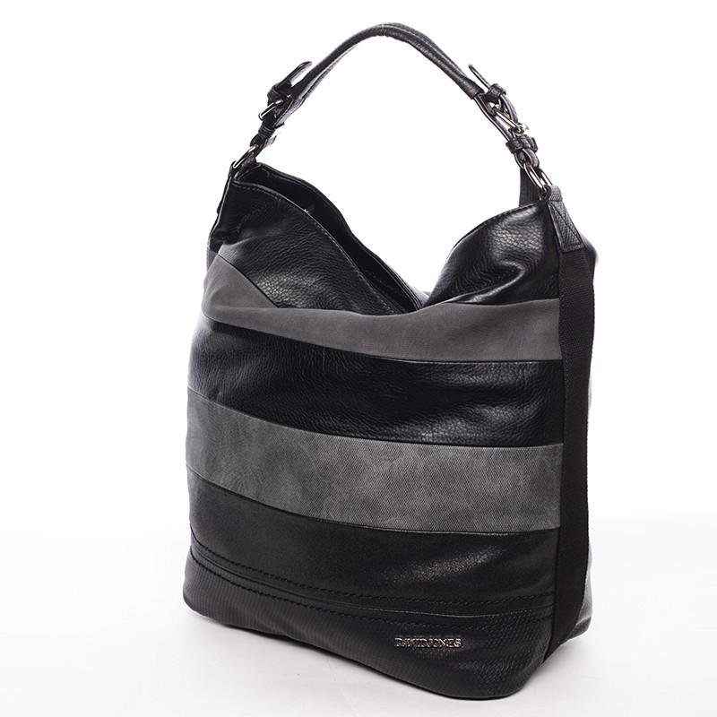 Módní velká dámská kabelka přes rameno černá - David Jones Vardana ... d11bf3e83ad