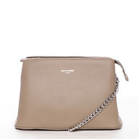 Dámská crossbody kabelka taupe - David Jones Depparies