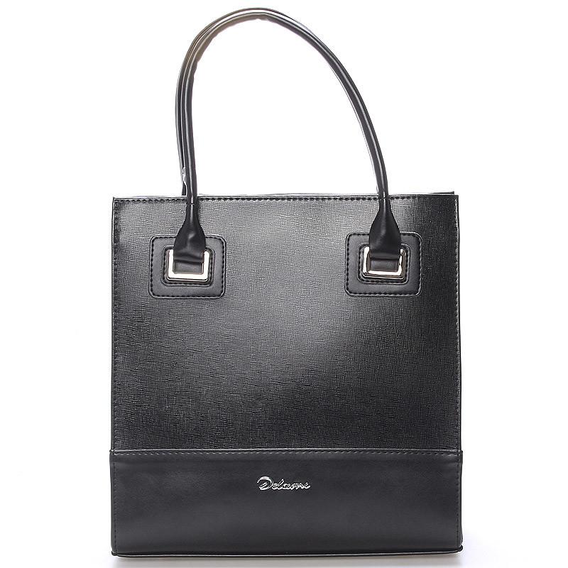 Dámská luxusní lakovaná kabelka černá - Delami Claudine - Kabea.cz d69666857a