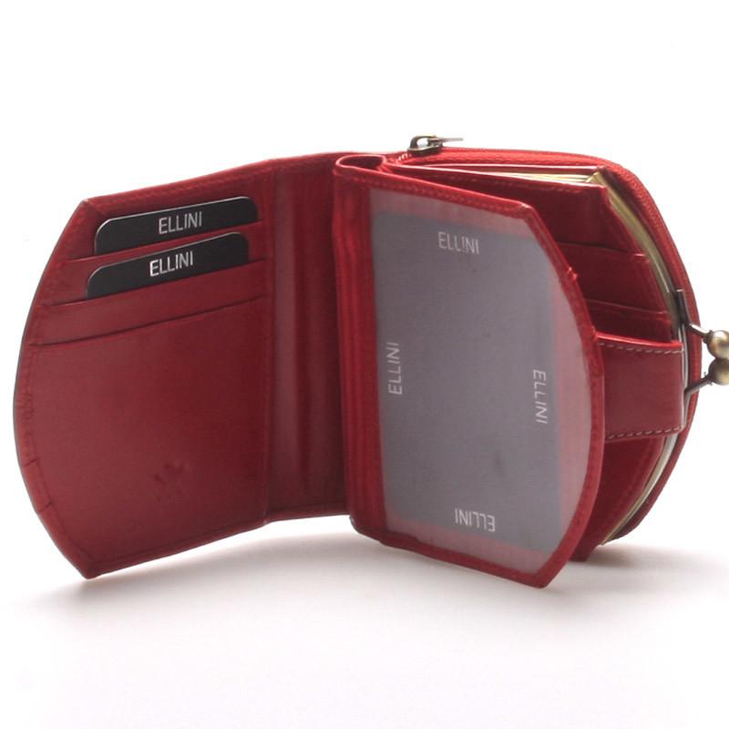 Dámská luxusní kožená peněženka červená - Ellini Dafne - Kabea.cz 742d2ecc986
