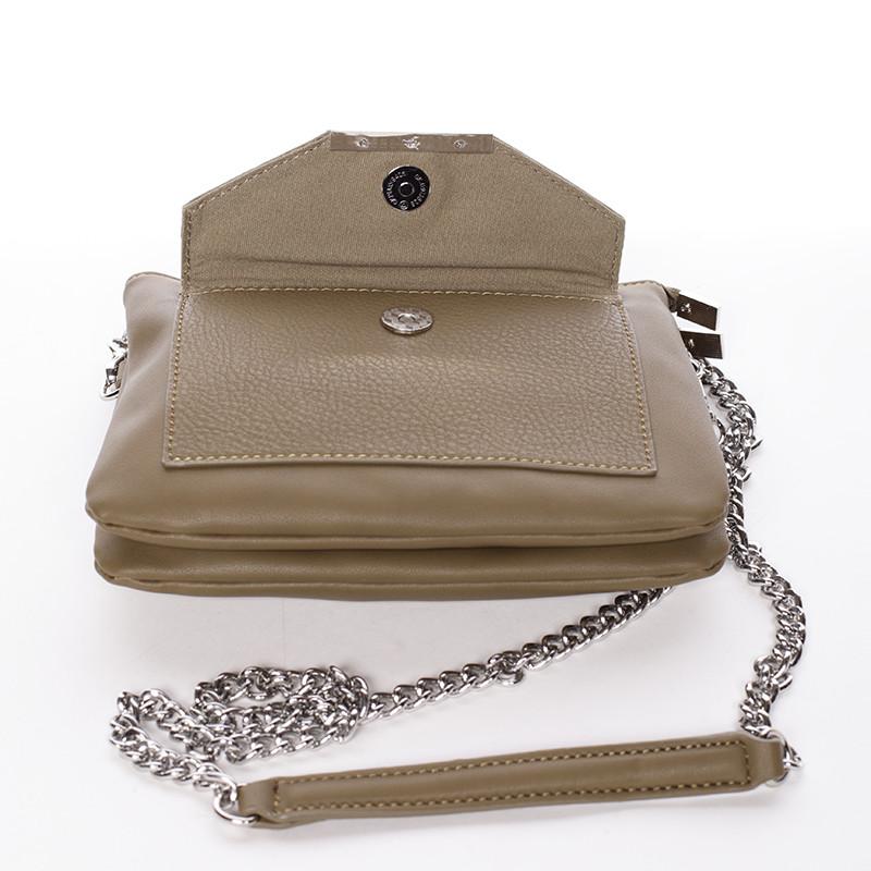 8866cc4997 ... Elegantní csossbody khaki dámská kabelka - David Jones Roberta ...
