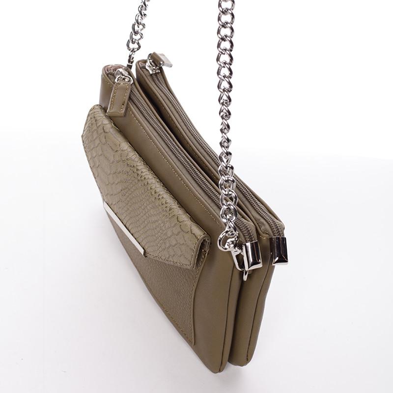 7273a2b5b8 Elegantní csossbody khaki dámská kabelka - David Jones Roberta ...