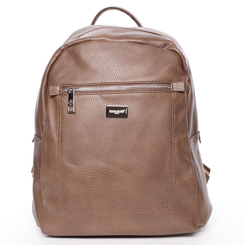 Dámský větší měkký batoh hnědý - David Jones Kaitlyn - Kabea.cz df4b692865