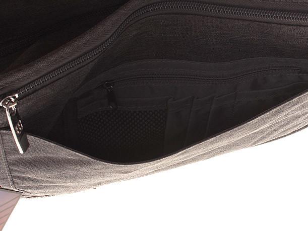 ... Kvalitní šedá nylonová brašna na notebook - Enrico Benetti Jason ... aa8ea331bd