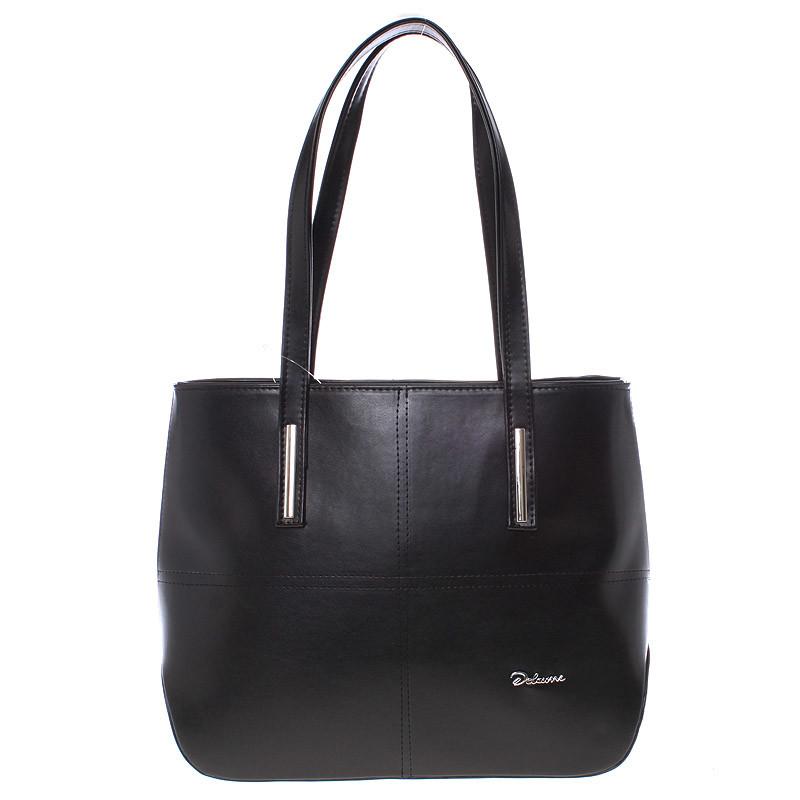 bca51cee69 Dámská luxusní kabelka přes rameno černá - Delami Leonela - Kabea.cz