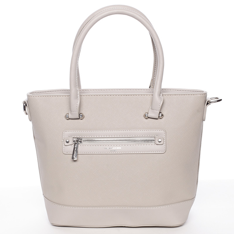 Módní dámská kabelka do ruky šedá saffiano - David Jones Klarisa ... 1ae948276e