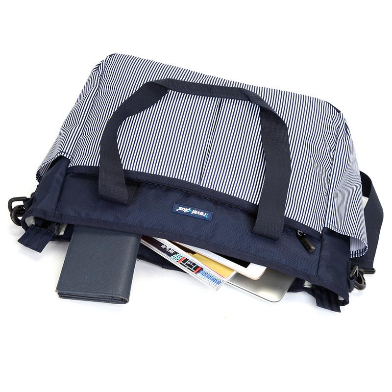 Dámská cestovní taška modrá pruhovaná - Travel plus 7501 - Kabea.cz 3f0559f111