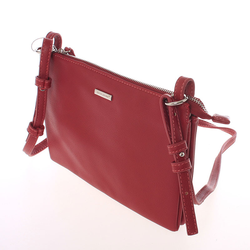 16cf97b7cd44 ... Stylová dámská listová crossbody kabelka červená - David Jones Efful ...