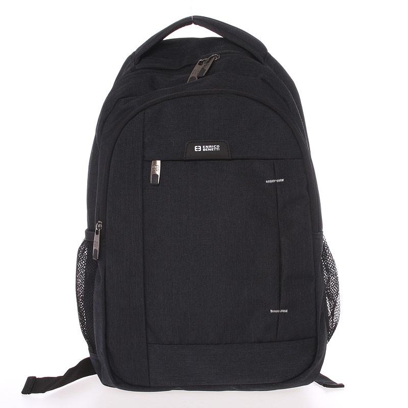 8feed4f16f Moderní černý batoh do školy - Enrico Benetti Acheron - Kabea.cz