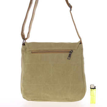 Unisex látková khaki crossbody taška - New Rebels Anchor