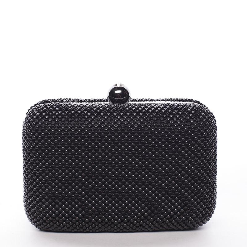 Malé dámské perleťové psaníčko černé - Delami Q407 - Kabea.cz e7870ceb8f5
