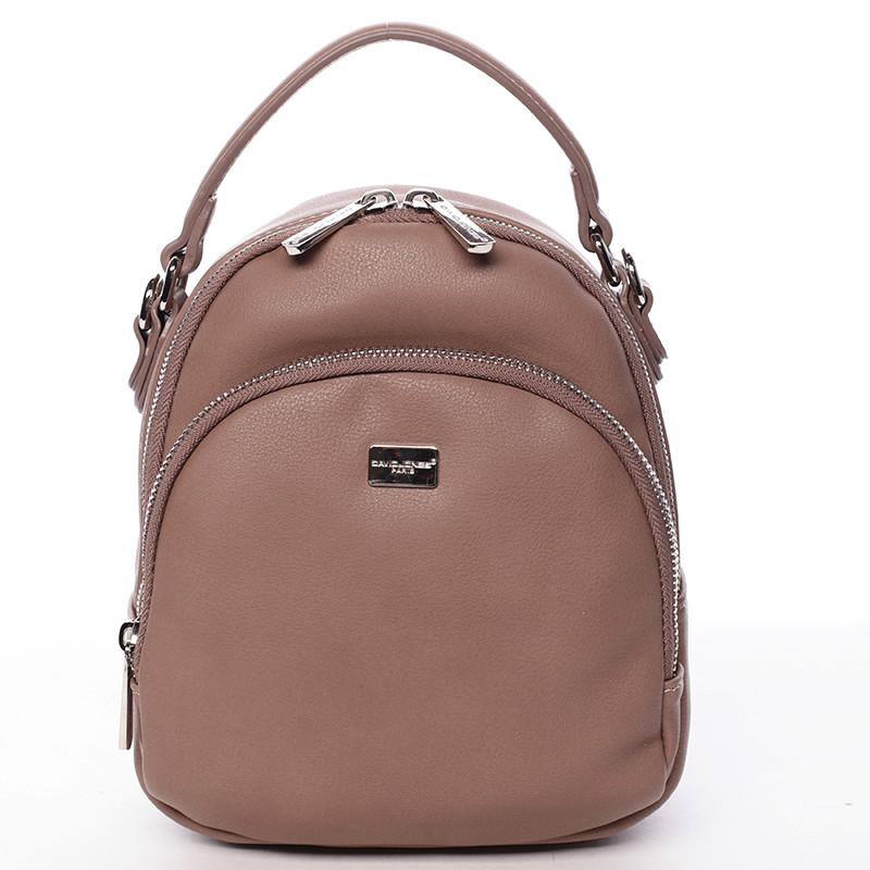 Malý dámský tmavě růžový městský batůžek kabelka - David Jones Aubri ... 96fbd5014e