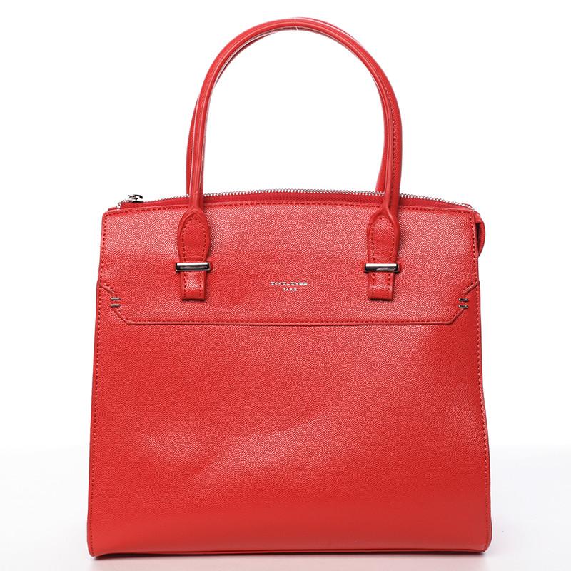 Exkluzivní dámská kabelka do ruky červená - David Jones Lena - Kabea.cz 16fed56820