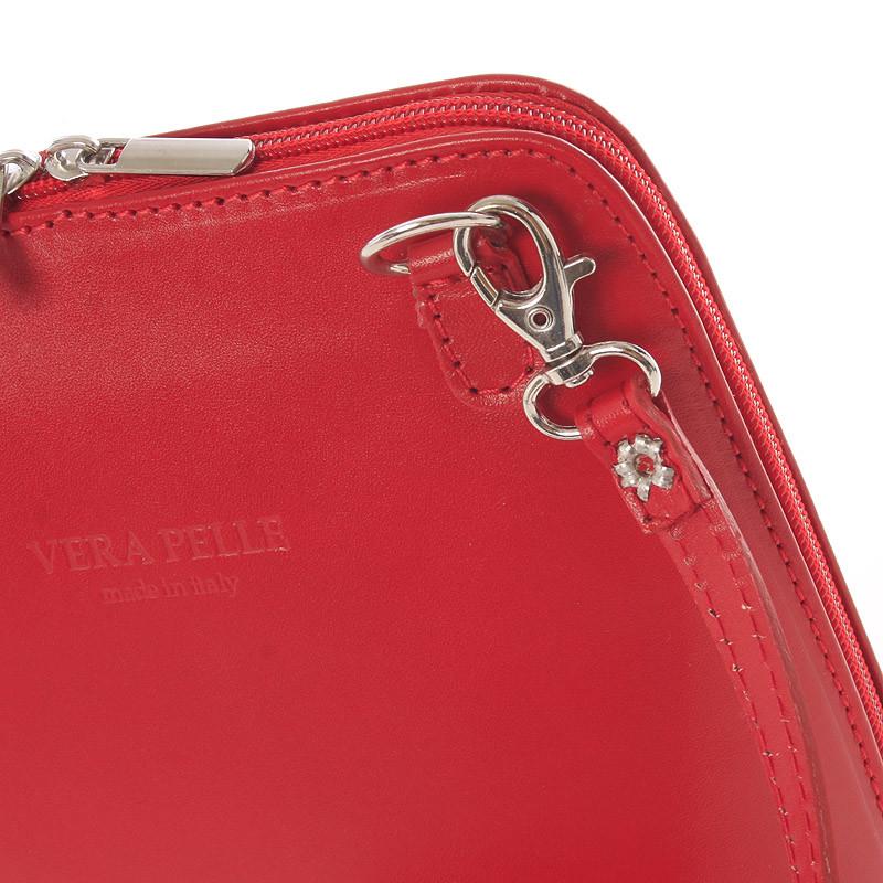 Dámská kožená crossbody kabelka světle červená - ItalY Hannah - Kabea.cz b16280f087f