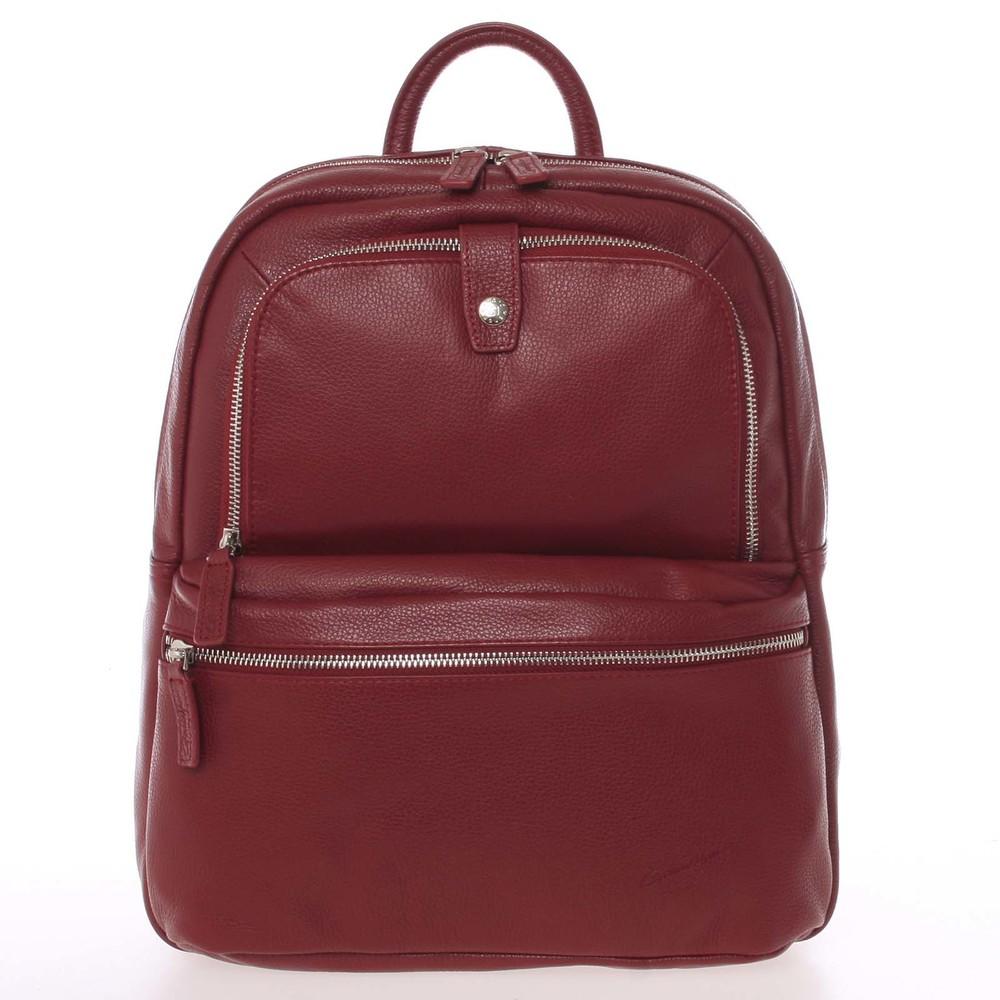 a6fcf03cc51 Luxusní kožený dámský batoh červený - Gerard Henon Comtessar - Kabea.cz
