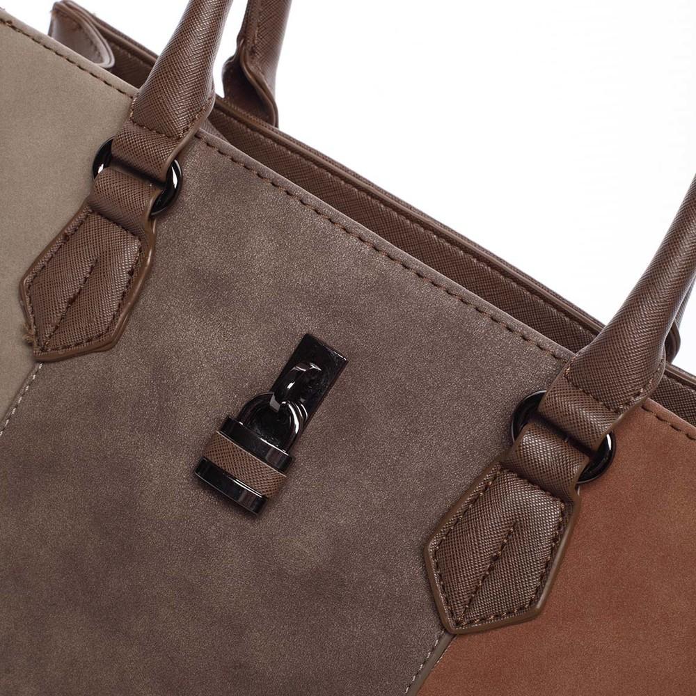 88466b0a16 ... Trendy hnědá menší dámská kabelka do ruky - David Jones Annabel ...