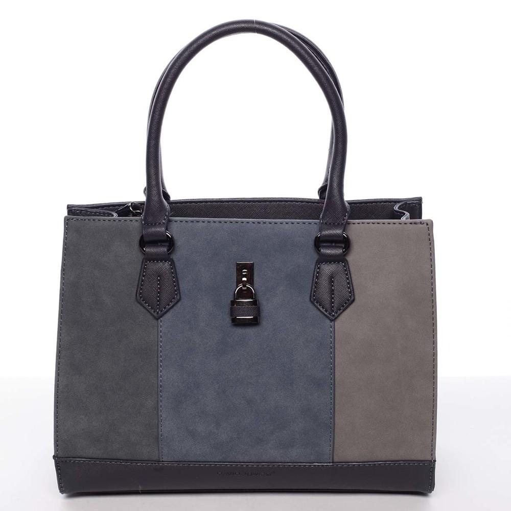 Trendy tmavě modrá menší dámská kabelka do ruky - David Jones Annabel ... dd8b677f668