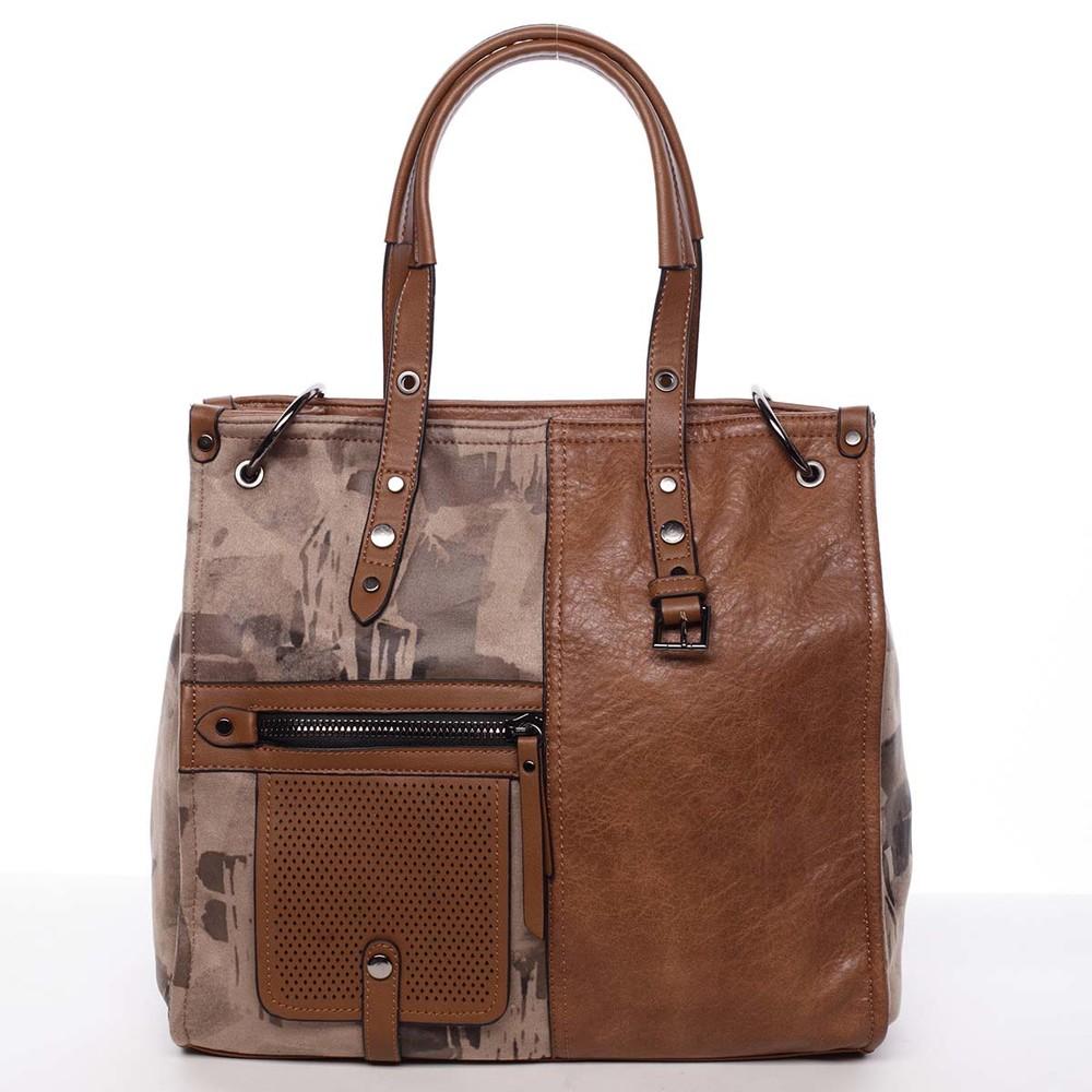 Nadčasová dámská kabelka do ruky hnědá - MARIA C Jemma - Kabea.cz e8f28fe3a0