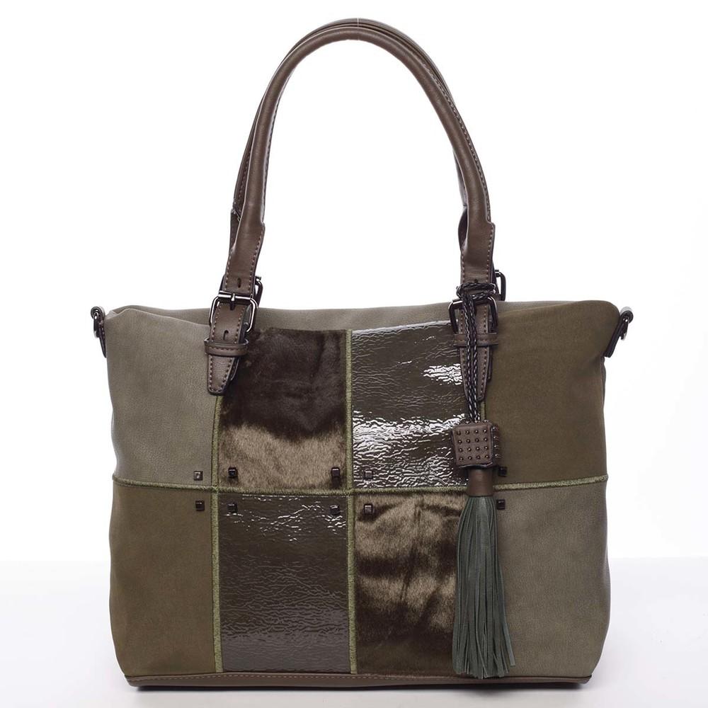 Jedinečná větší dámská kabelka zelená - MARIA C Riley - Kabea.cz 6888a963a96