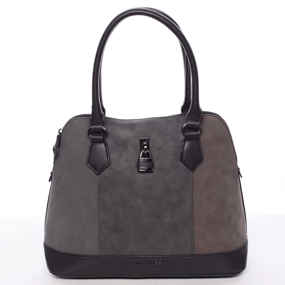 f5ff3d74a Moderní menší dámská černá kabelka do ruky - David Jones Kylah ...