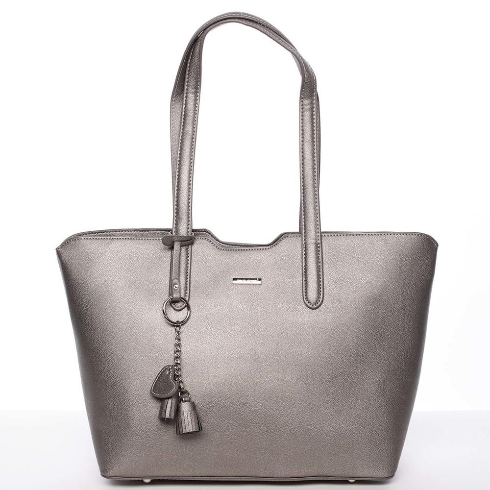 Moderní kabelka přes rameno tmavá stříbrná - David Jones Nabyela ... dd6f6b814b
