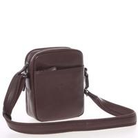 Hnědá luxusní kožená taška na doklady Hexagona 123477 a15dc7d3720