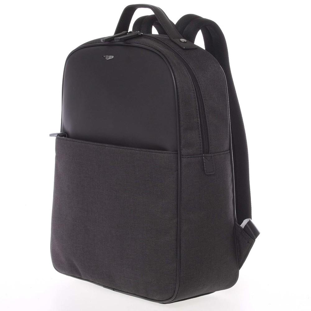 fb9ea551268 Luxusní polokožený šedo-černý batoh - Hexagona Galantis - Kabea.cz