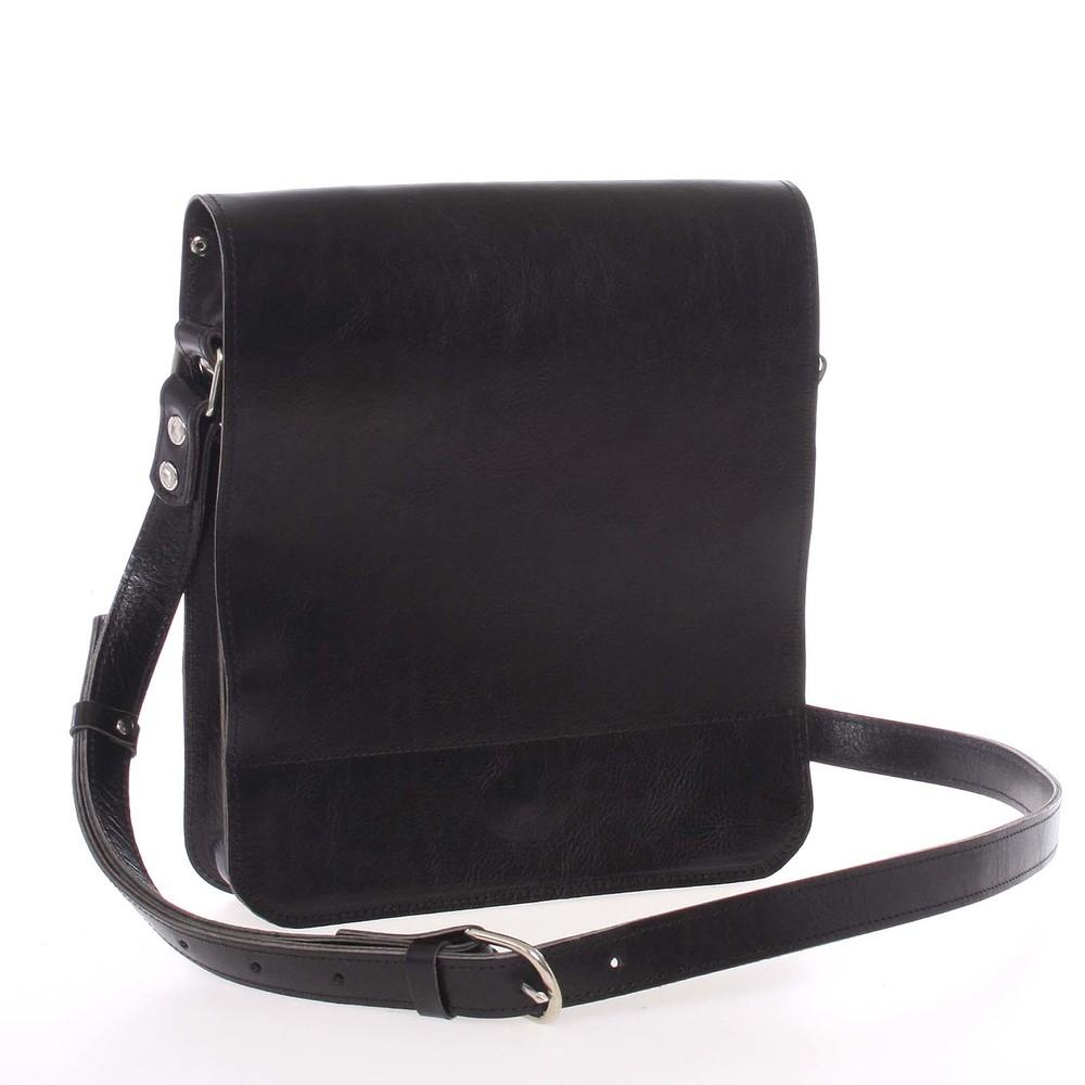 6cc114d52e Černá luxusní kožená taška přes rameno Kabea Luxor - Kabea.cz